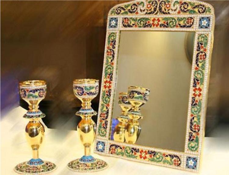 آینه شمعدان در رسوم ایرانی ها