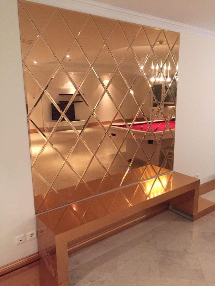 آینه های رنگی دکوری مهجام گلس 2