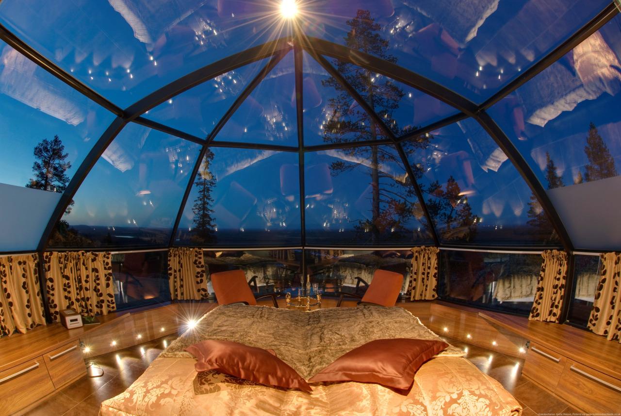 هتل شیشه ای منطقه لپلند