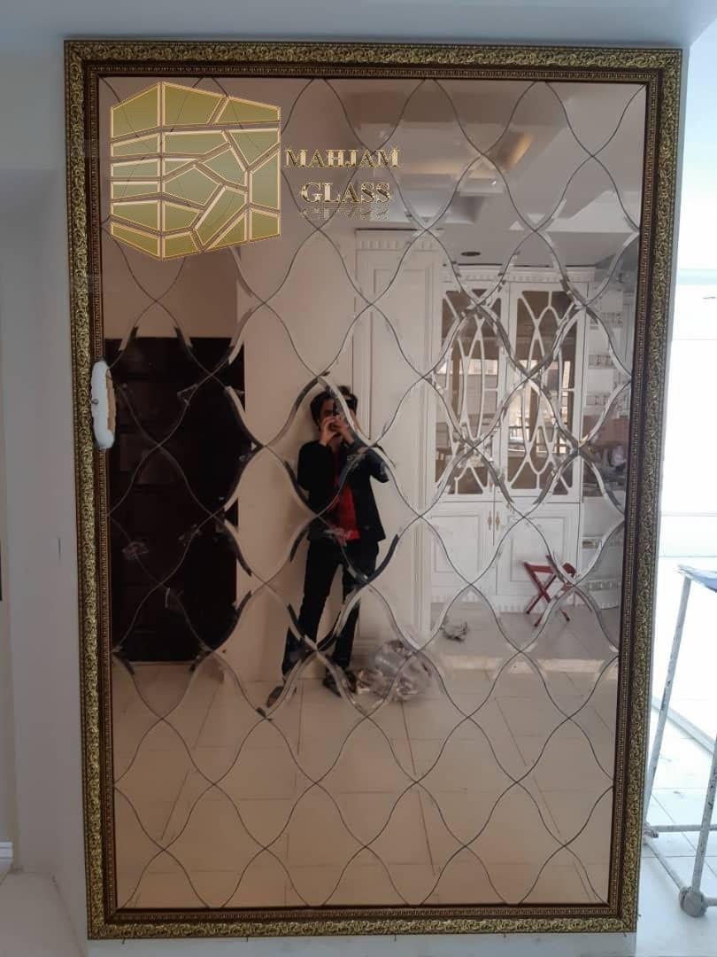 تایل آینه ای لوزی منحنی