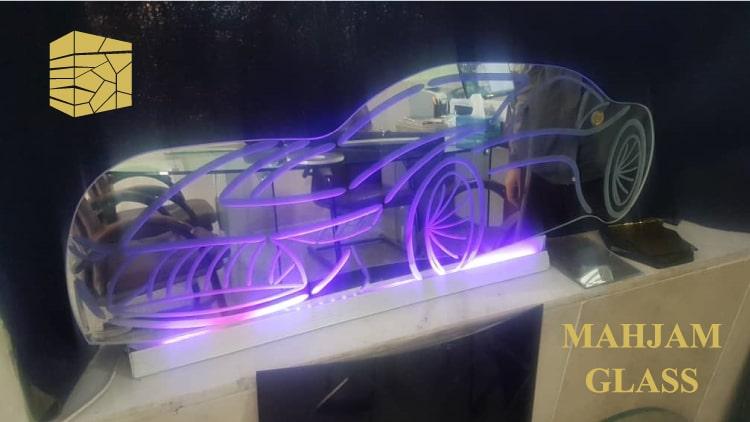 مازراتی آینه ای با نورپردازی